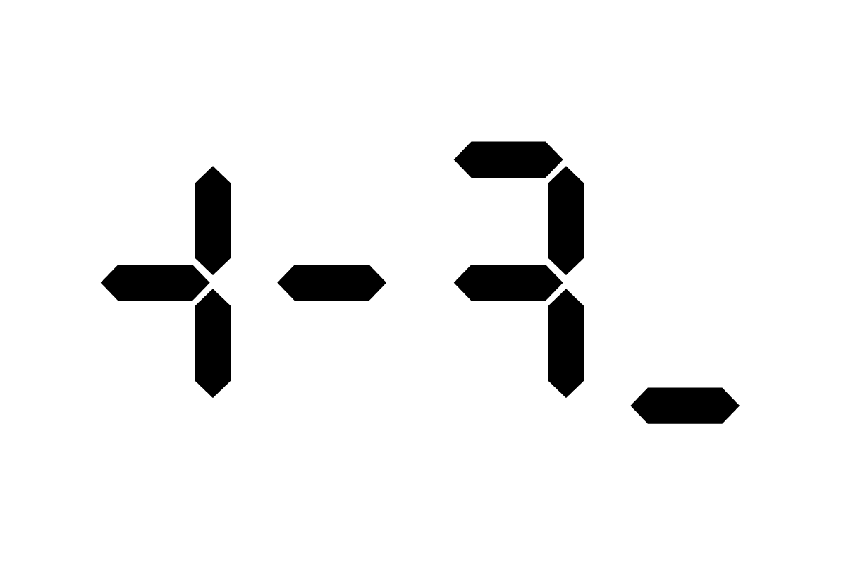 デジタル文字0803